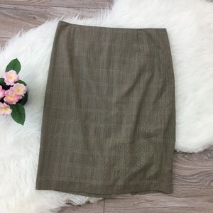 Elie Tahari plaid skirt